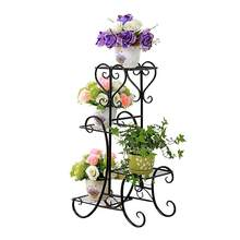 WINOMO 4 Tier Plant Stand Indoor Outdoor Plant Corner Shelf Flower Pot Plant Holder Planters Display Rack(China)
