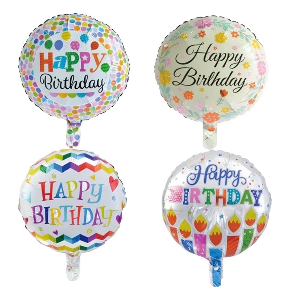 10pcs Globos Batch Happy Birthday Balloons Aluminium Foil Helium Mylar Baloon For Kids Party Decor In Ballons Accessories From Home
