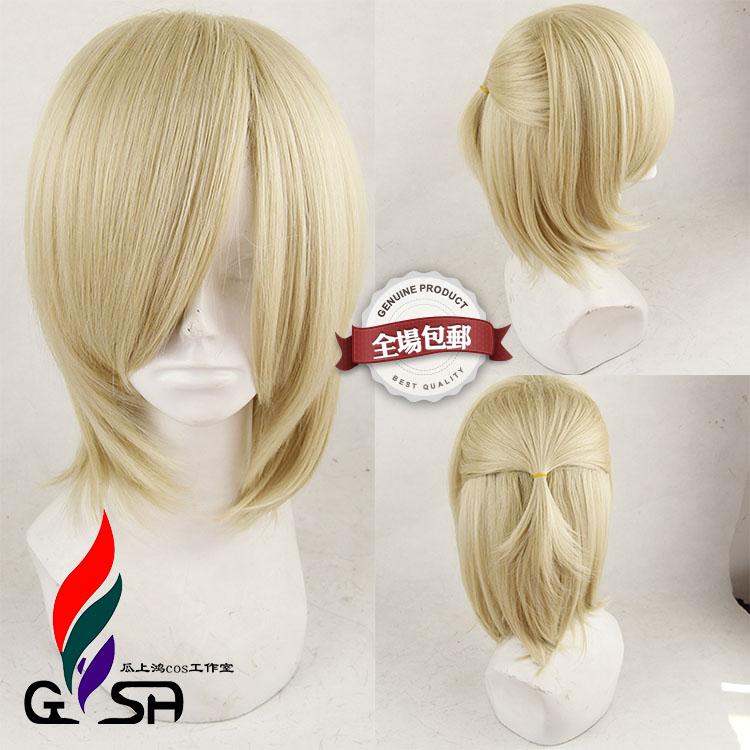 on ICE Katsuki Yuuri Black Anime Costume Cosplay Wig Track Number YURI Cap