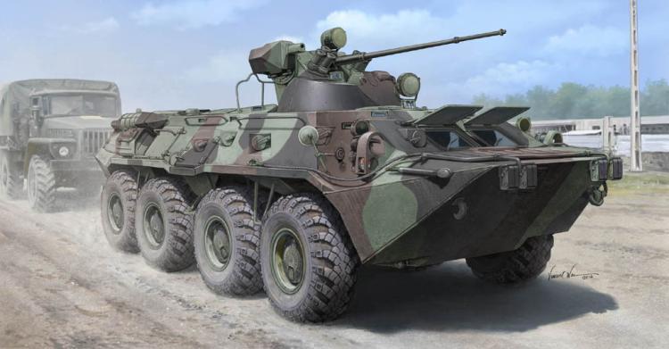 Trumpeter Model 01595 1/35 Russian BTR-80A APC