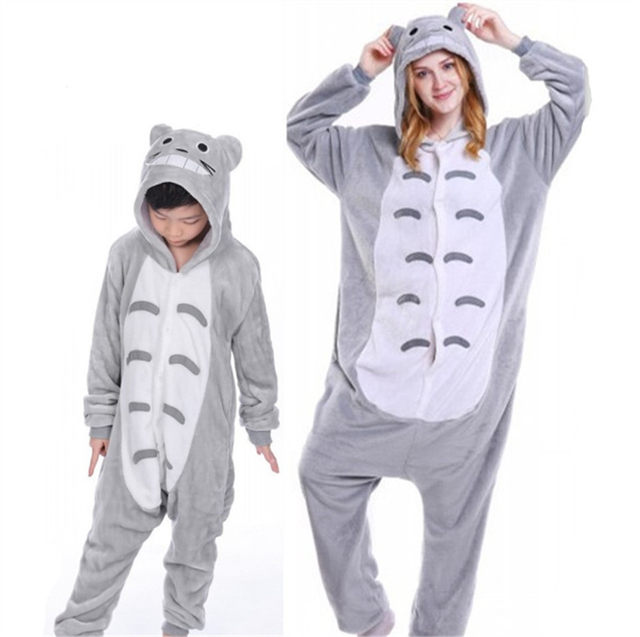 ... presenting fdb4f dd692 Father Mother and Daughter Son Pajamas Party  Unicorn Jumpsuit Cosplay Costume Animal Onesies ... c01219a95