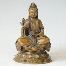 ATLIE BRONZES Bronze Guanyin Bodhisattva Figure The Goddess Of Mercy Religious figure Buddha BD-90