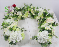 SPR 2018 Free Shipping magic 3D artificial flower wall panel wedding backdrop flower row and arch decorative floral for event