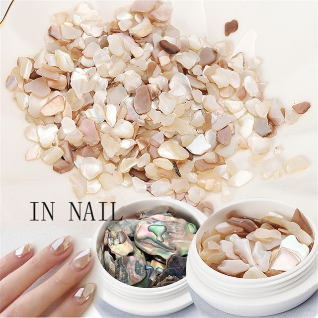 1 Box Shell Stone Nails Art Sequins for Nail UV Gel Polish Nail Flakies Decoration of