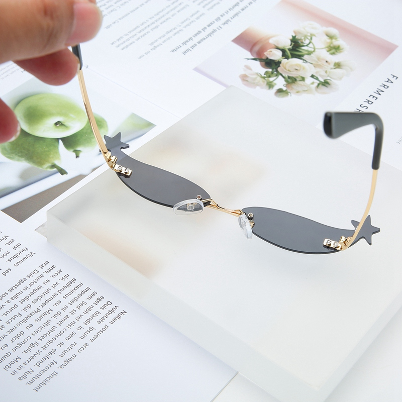 Small Cat Eye Sunglasses Women Retro Narrow Sexy Cateye Sunglass Female Eyewear Rimless Coating Mirror Shades in Women 39 s Sunglasses from Apparel Accessories