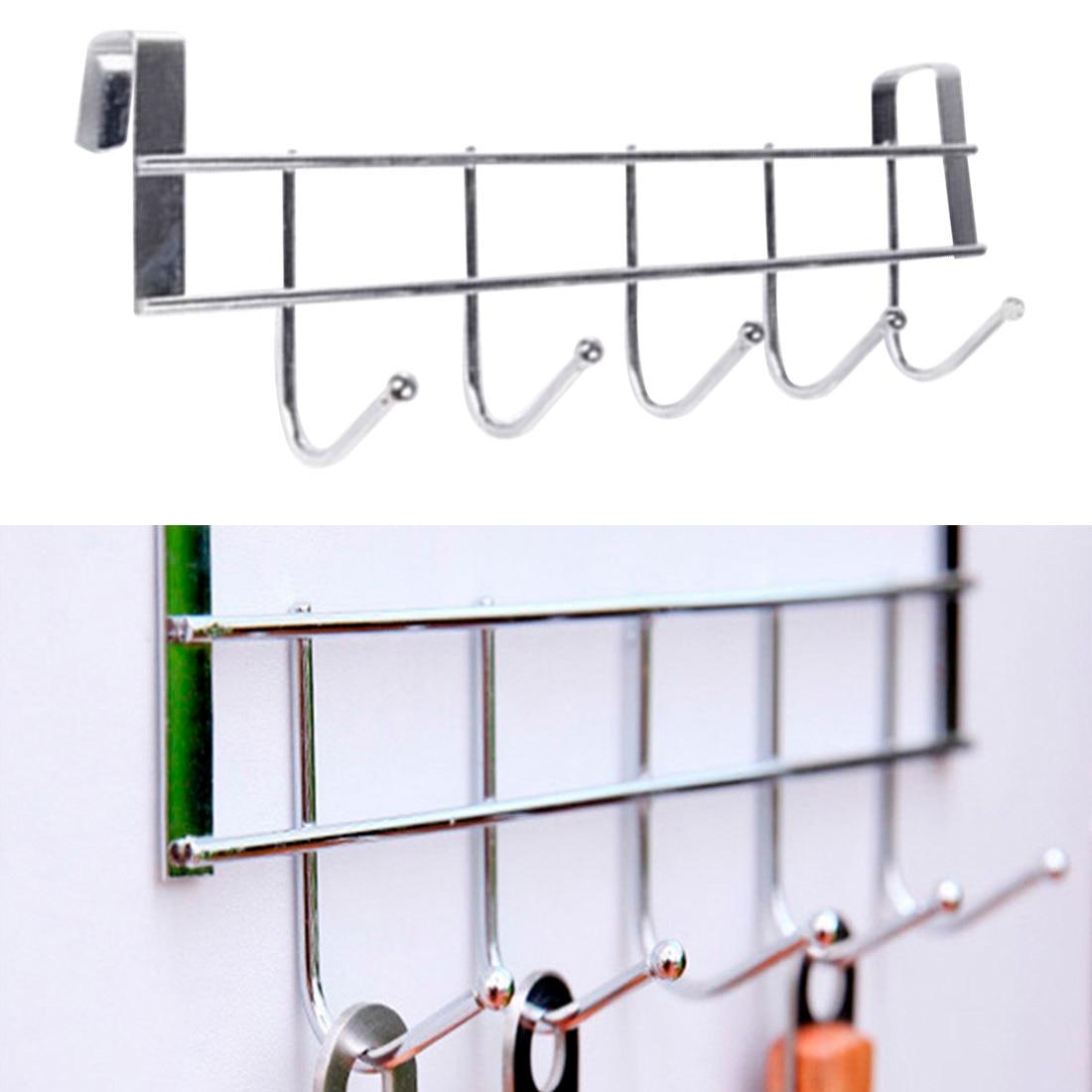 Cupboard Shelf Hanging Hook Organizer Closet Clothes Glass Mug Shelf Hanger Wardrobe Holder Kitchen Cupboard Storage Rack