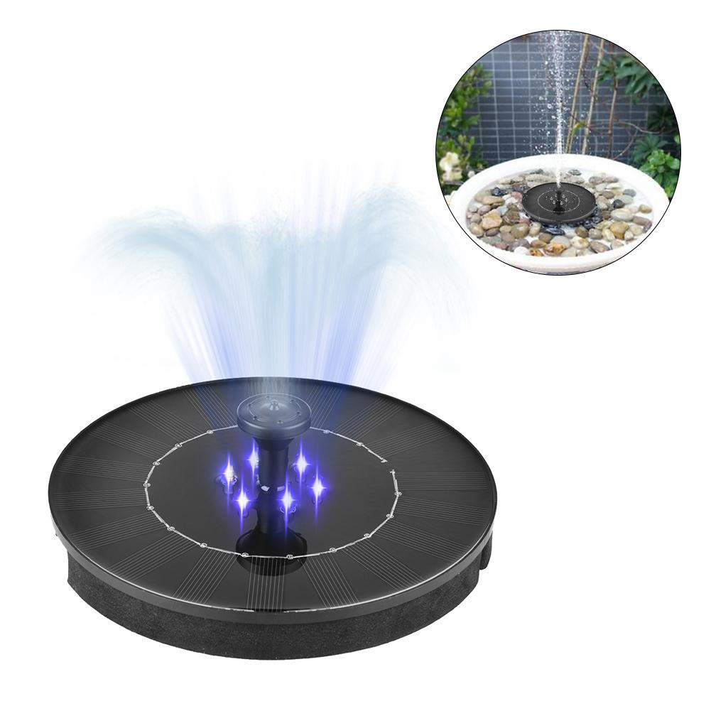 Solar Fountain Watering Kit LED Solar Water Pump Submersible Waterfall Floating Solar Panel Water Fountain for