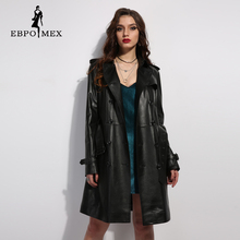 leather jacket and long sections women 2017 winter new large size women slim thin thick Women's sheepskin coat