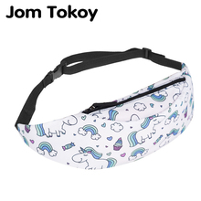Jom Tokoy New Colorful Waist Pack For Men Fanny Pack Style Bum Bag Cute Unicorn Women Money Belt Travelling Waist Bag sansarya belt bag boho bohemian vintage fanny pack for women cute festival hippie ladies waist bag tribal aztec girls bum bag