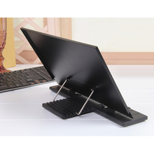 Portable Book Stand Frame Reading Desk Holder with 7 Tilt Adjustable Grooves,Black