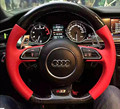 PROCESSING SPORTY REAL CARBON FIBER STEERING WHEEL FOR AUDI A3 A4 A5 A6 A7 Q3 Q5 Q7 TT SPORTY CARBON FIBER STEERING WHEEL