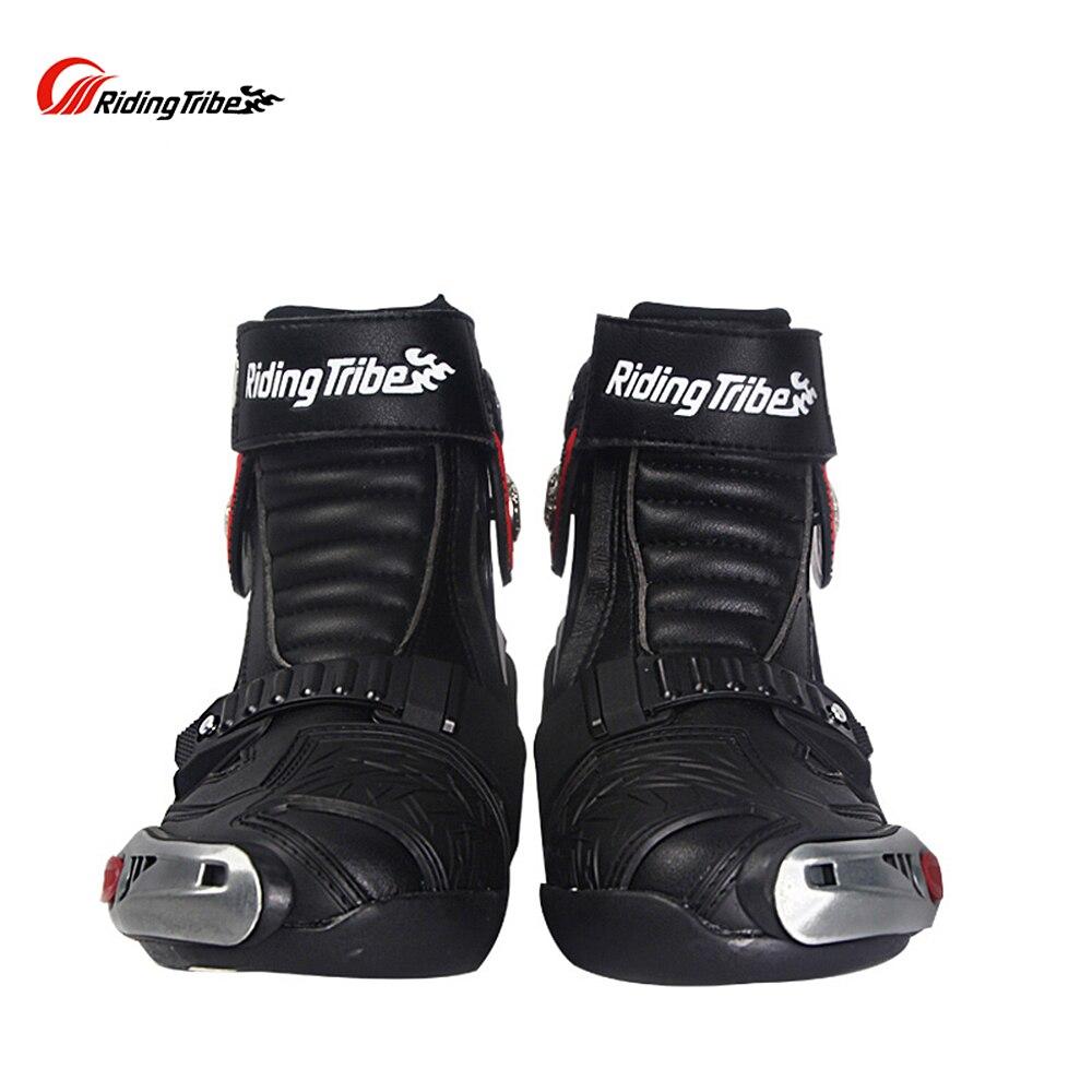 Мужская мотоциклетная обувь для верховой езды; ботинки для езды на мотоцикле; кожаные водонепроницаемые противоскользящие износостойкие ботинки; A009