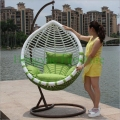 Patio wicker hanging hammock chair furniture with cushions