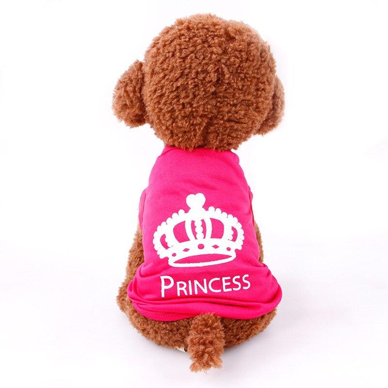 ᗕCorona perro ropa suave princesa ropa para perro accesorios PUG ...