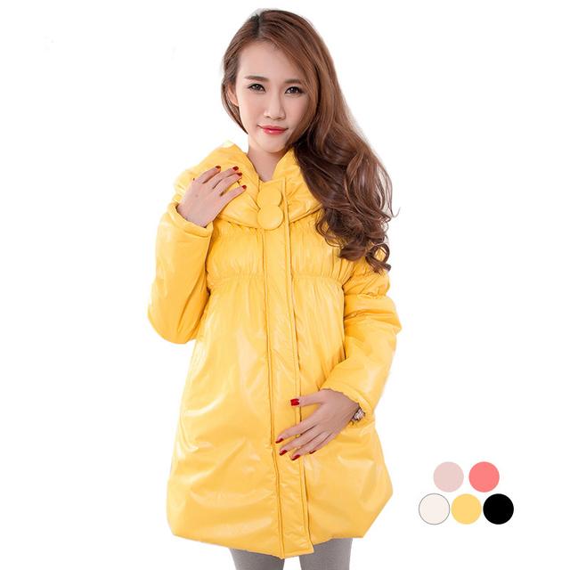 Maternidad de invierno térmica engrosamiento chaqueta de la capa wadded botón grande más el tamaño de algodón acolchado embarazadas 1609, altamente recommand calidad