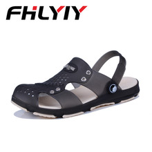 Plus Size 45 Man Sandals For Men Summer Beach Slipper Flat Breathable Outdoor Sandals Male Water Sandalias Zapatos Hombre Black