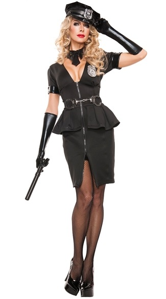 Halloween Costumes For Women Police Cosplay Costume Dress -1681