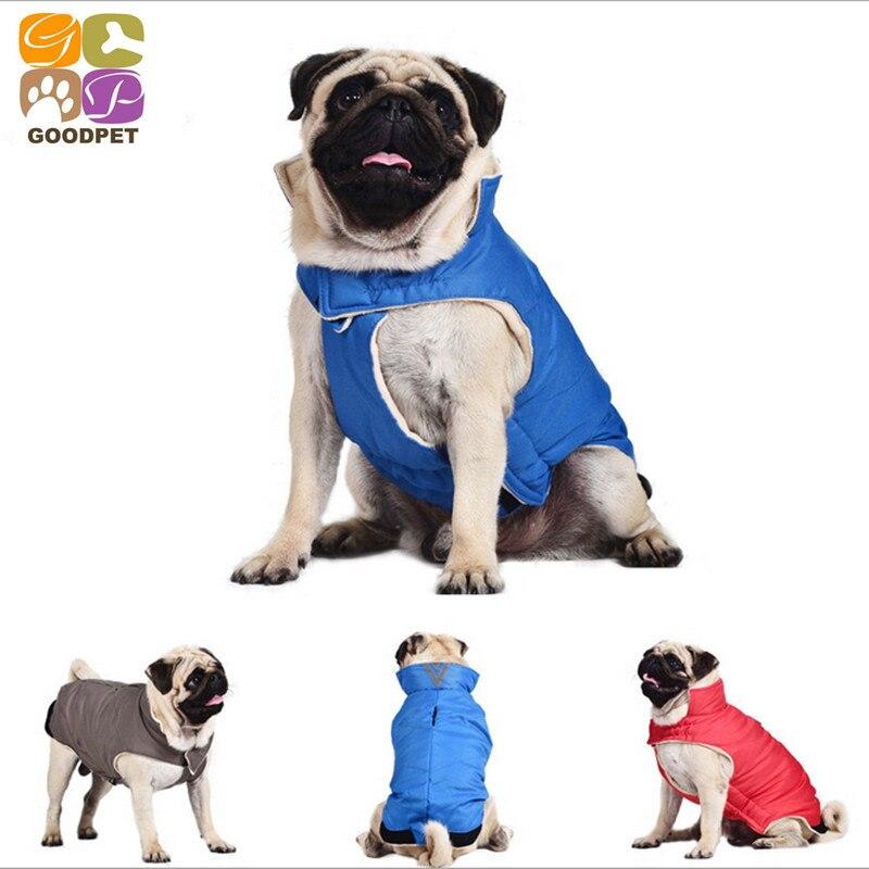 Dog Warm Clothing Retriever French bulldog Cotton Jacket Vest Pet ClothingDowns Autumn Winter Coat Apparel DC151125-19-13