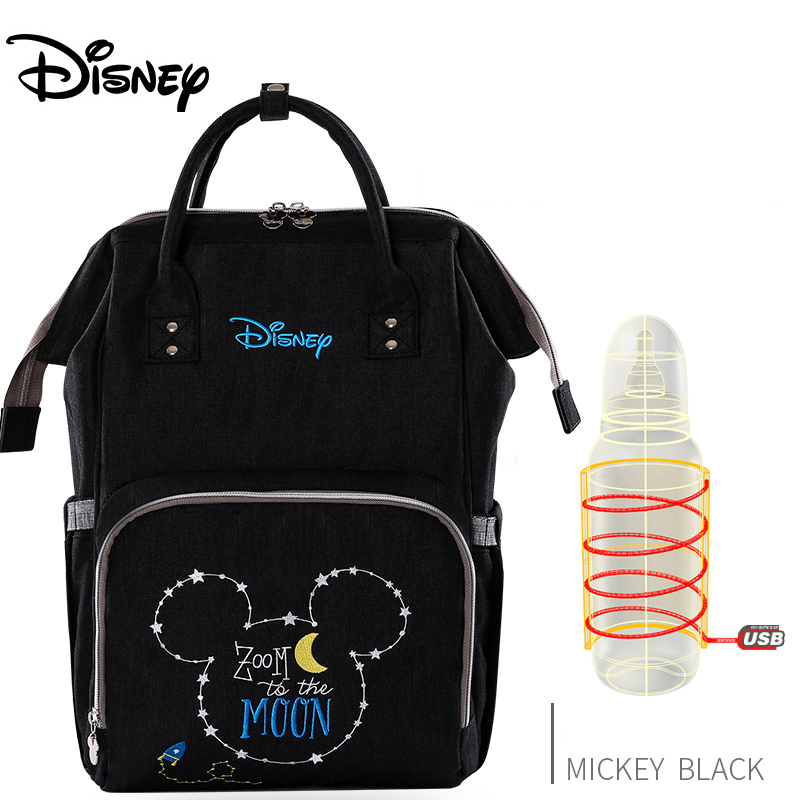 Disney Mickey version Thermal Insulation Bag High-capacity Baby Feeding Bottle Bags Diaper Bags Oxford USB Insulation Bags
