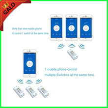 Wifi Switch,Universal Smart Home Automation Module Timer Diy Wireless Switch, Remote Controller Via IOS Android 10A/2200W