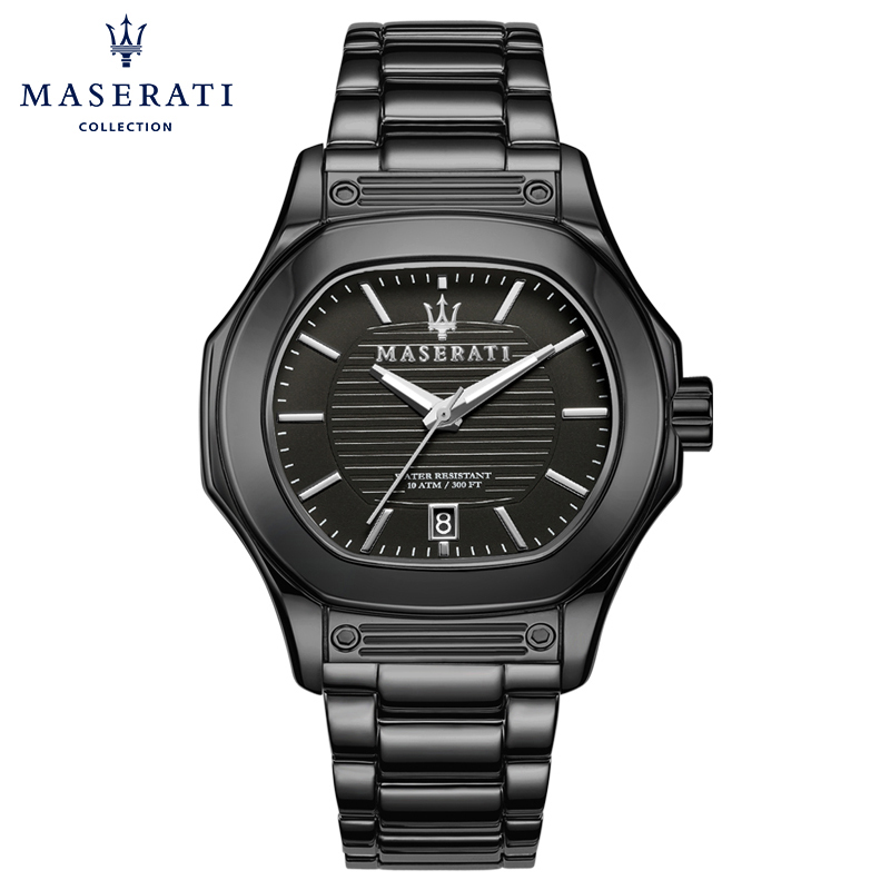Maserati Man Casual Quartz Watch Fashion Relojes Hombre 2018 Black Stainless Steel Wristwatches Oval Watches R8853116003 relojes full stainless steel men s sprot watch black and white face vx42 movement