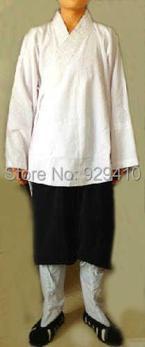 道教服/衣装道教robeuniforms太極拳武道カンフー服ユニセックスホワイト+黒