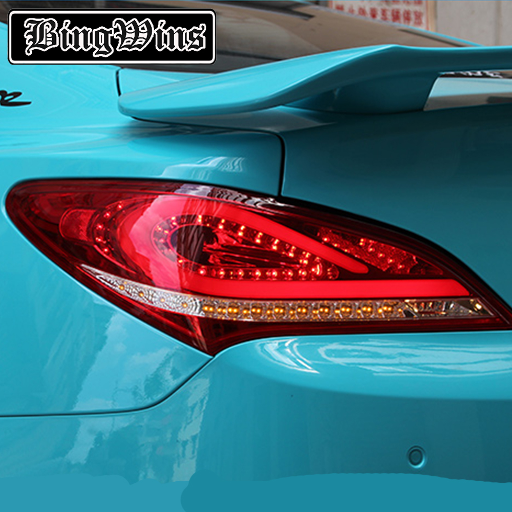 For Hyundai Genesis Rohens Coupe Tail Lights 2009 2012 Coupe LED Tail Light Rear Lamp DRL+Brake+Park+Signal rohens back lamp