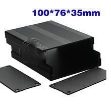 100x76x35 мм черный алюминиевый корпус блока управления процессором оболочка охлаждающая коробка корпус Сплит Тип