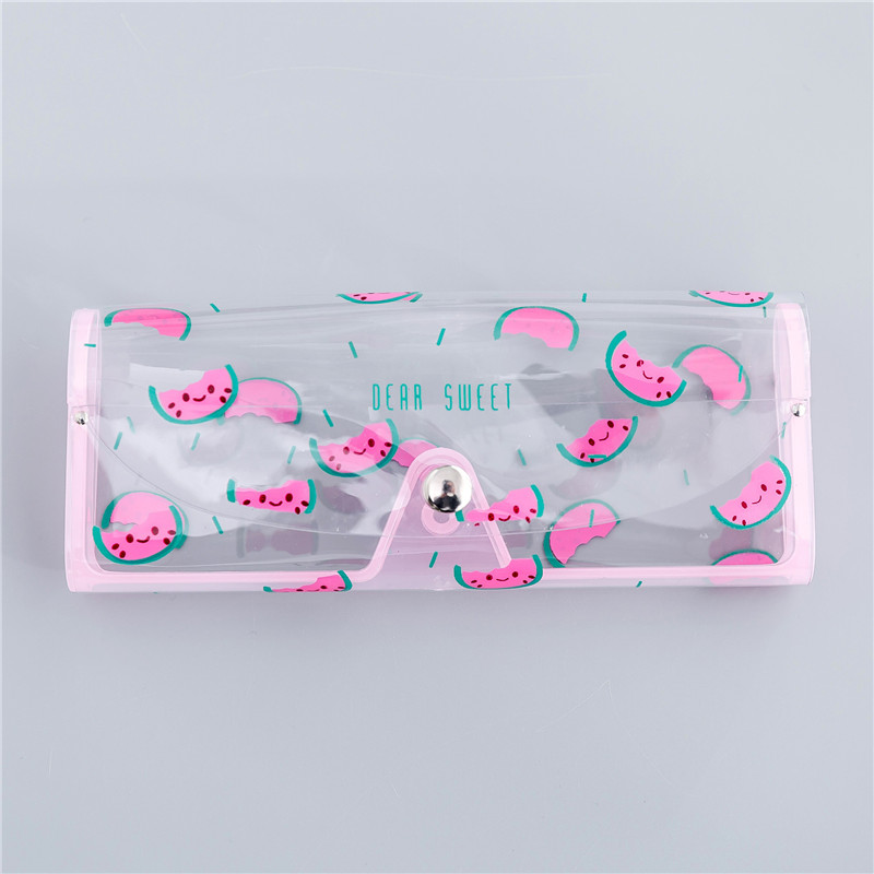 Image 5 - 1PCS Cartoon Cute Car Accessories Transparent PVC Eye Glasses Box Bag Case Protection Box Eyewear Accessoires for Adults Kids-in Glasses Case from Automobiles & Motorcycles