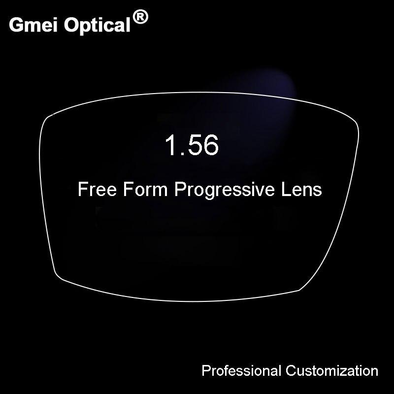 1.56 Numérique Livraison Forme Progressive Aucun-Ligne Multi-Focal Prescription Optique Sur Mesure Lentilles Avec Anti-Reflet 2 pcs