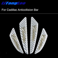 Litanglee Car Door Edge Protection Car Styling Anti Collision Sticker English Sign White For Cadillac XT5