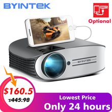 Save 40$ Bottom price BYINTEK Brand MOON M7 200inch Home Theater HD Video LED Projector for iphone  Android Full HD 1080P цена