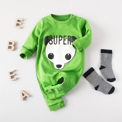 8c715574391b Baby spring autumn male 0-2 years newborn baby clothing set female 100% cotton  rompers 3 - 6 months old baby clothes