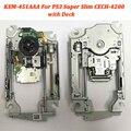 100% Новый оригинальный сменный KEM-451AAA kem 451aaa для PS3 супер тонкий CECH-4200 KES-451 лазерный считыватель линз с палубным механизмом