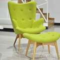 Egg Style Chair sets( Top cashmere+oak), Chairs modern style bright color egg ball chair single seater sofa chairs