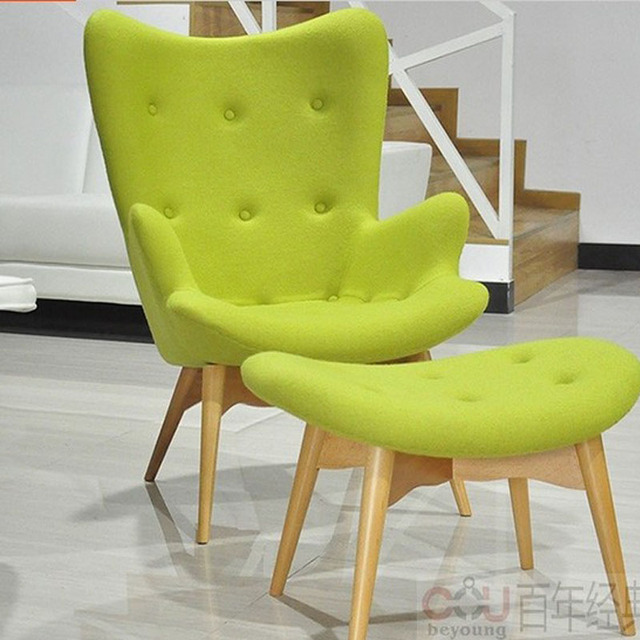 Egg Style Chair sets( Top cashmere+oak) Chairs modern style bright color : bright chairs - Cheerinfomania.Com