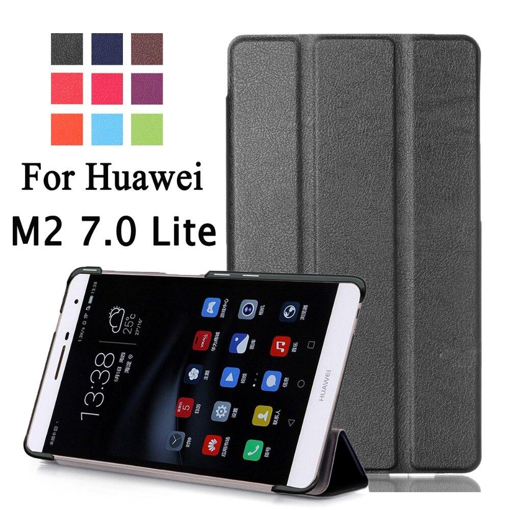 943fc95796 For Huawei MediaPad M2 7.0 Lite PLE-703L   T2 7.0 Pro Business Cartoon  Painted Print PU Leather Flip Smart Sleep Cover Case