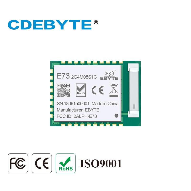 CDEBYTE E73-2G4M08S1C nRF52840 BLE 5,0 transceptor inalámbrico 8dbm 120 m 2,4 GHz Antena de cerámica 2,4 GHz Bluetooth 4,2 RF módulo