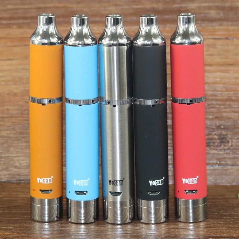 D'origine Yocan Évoluer plus starter kit 1100 mah vaporisateur vaporisateur stylo Quartz double bobine Intégré batteryelectronic cigarrate