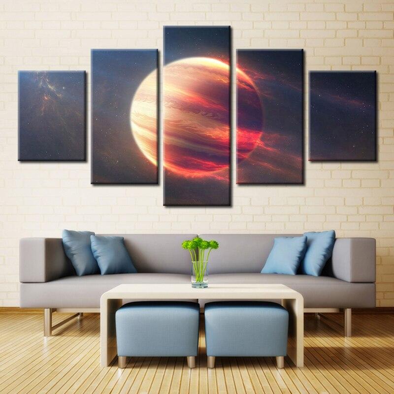 6 17 49 De Réduction 5 Pièces Espace Extérieur Mars Planète Moderne Maison Mur Décor Peinture Toile Art Hd Impression Peinture Toile Mur Photo Pour
