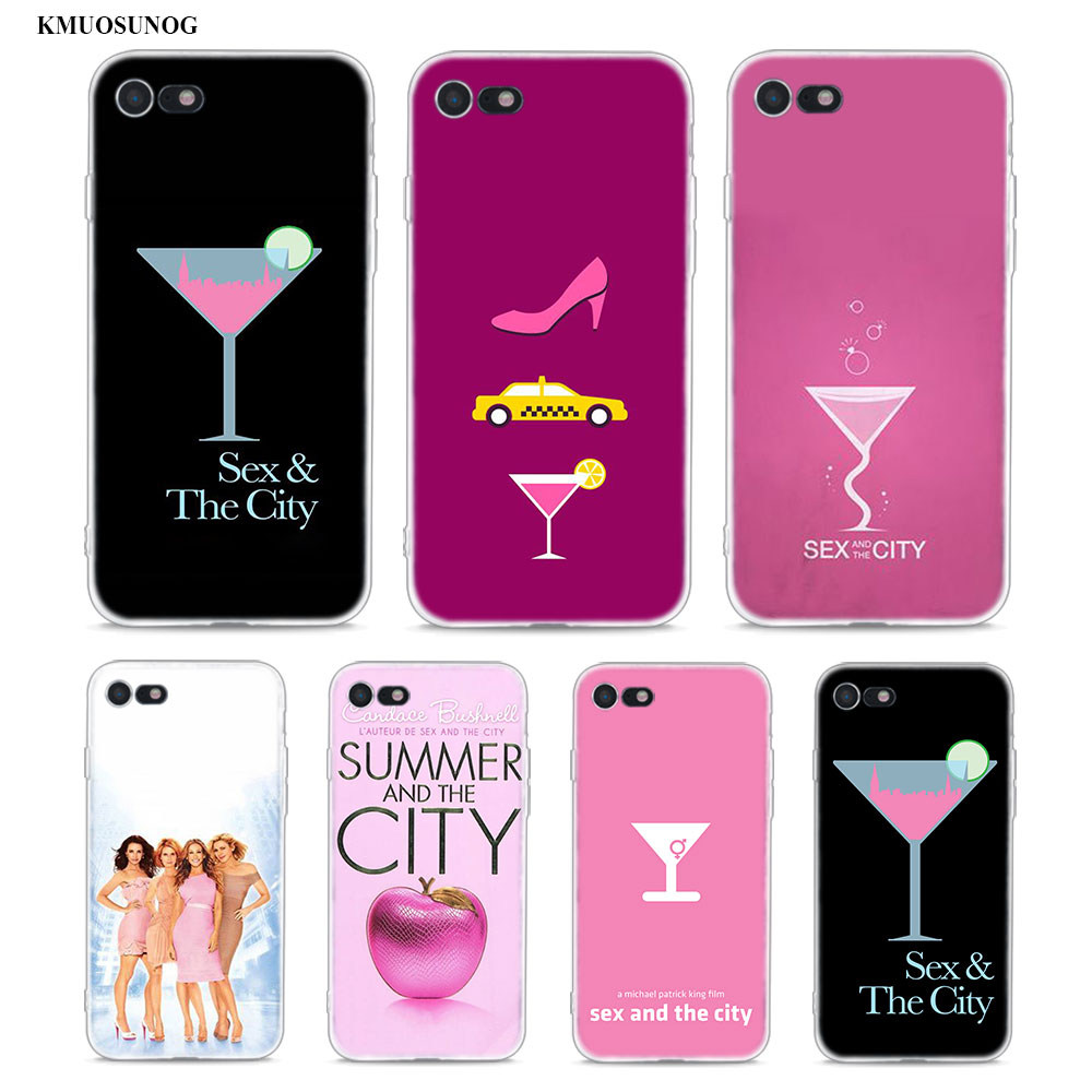 Transparent Soft Silicone Phone <font><b>Case</b></font> <font><b>sex</b></font> and the city for <font><b>iPhone</b></font> XS X XR Max 8 <font><b>7</b></font> 6 6S <font><b>Plus</b></font> 5 5S SE image