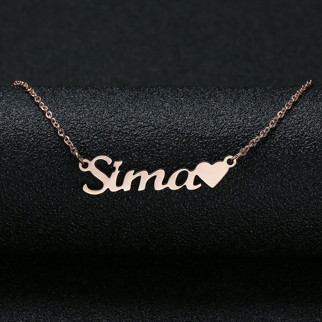 Personalized Custom Name Necklace For Women Customized Cursive Nameplate Handmade Choker Best Friend Birthday Gift