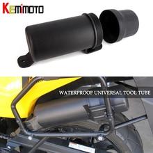 KEMiMOTO Универсальный внедорожных заездов Аксессуары для мотоциклов Водонепроницаемый инструмент тубус для перчаток плащ коробка для хранения для BMW F800 GS