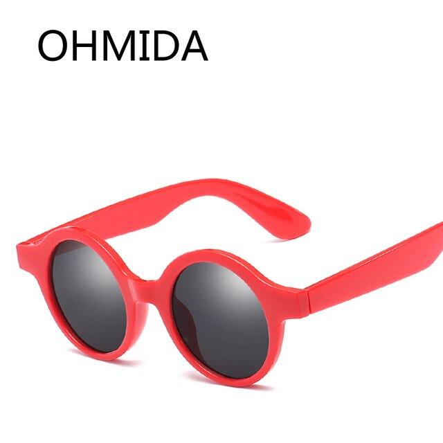 04d934415813 OHMIDA 2018 New Round Sunglasses Women Luxury Brand Sexy Red Black Sun  Glasses For Female High