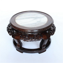 Black catalpa wood real wood marble carvings household act the role ofing is tasted furnishing articles base