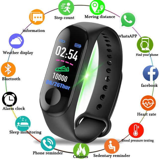 חדש ספורט גברים נשים ספורט עמיד למים שעון לחץ דם קצב לב צג חכם שעון גשש כושר מד צעדים שעון