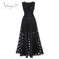 Young17 16 Maxi Summer Plaid Women Dress New Long Organza Day Dress Vestidos De Festa Satin