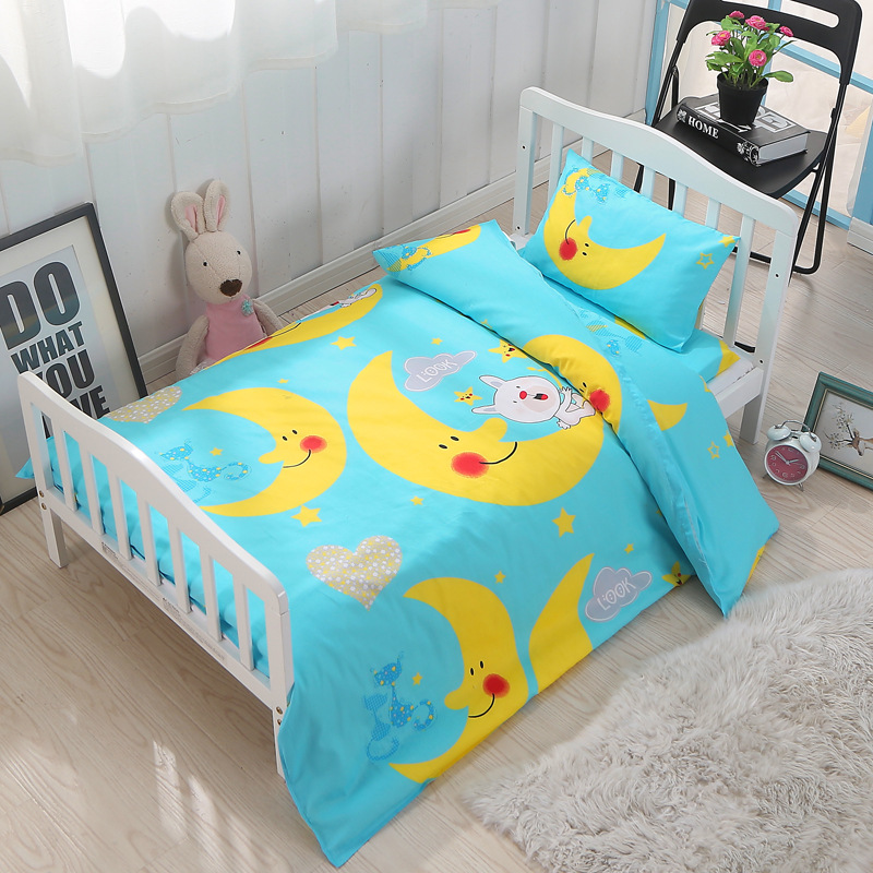 Summitkids 100% Cotton 3pcs Baby Washable Bedding Sets 120*60cm Size Cartoon Pattern Bed Quilt Cover Pillowcase CustomizedSummitkids 100% Cotton 3pcs Baby Washable Bedding Sets 120*60cm Size Cartoon Pattern Bed Quilt Cover Pillowcase Customized