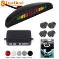 Sales Mini Ultrasonic 4 parking Sensor Audible Alarm Car Led Reverse Parking Sensor System Auto Backup Radar Kit for All Cars