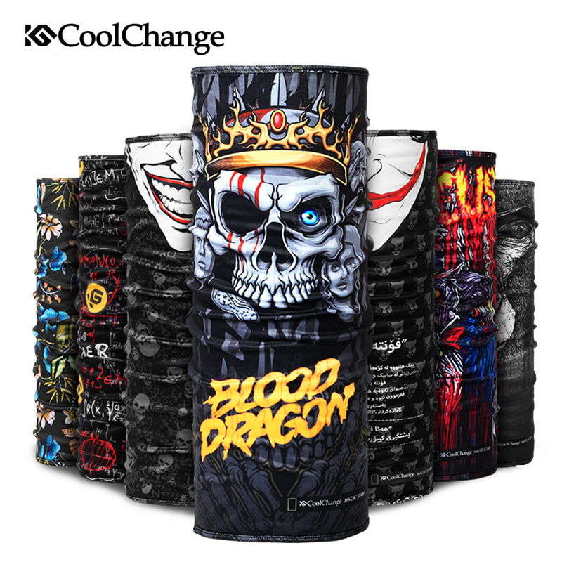 CoolChange Cycling Bandana Winter Fleece Thermal Bandana Outdoor Sports Headwear Bike Ride Neck Mask Bicycle Headband Scarf ...